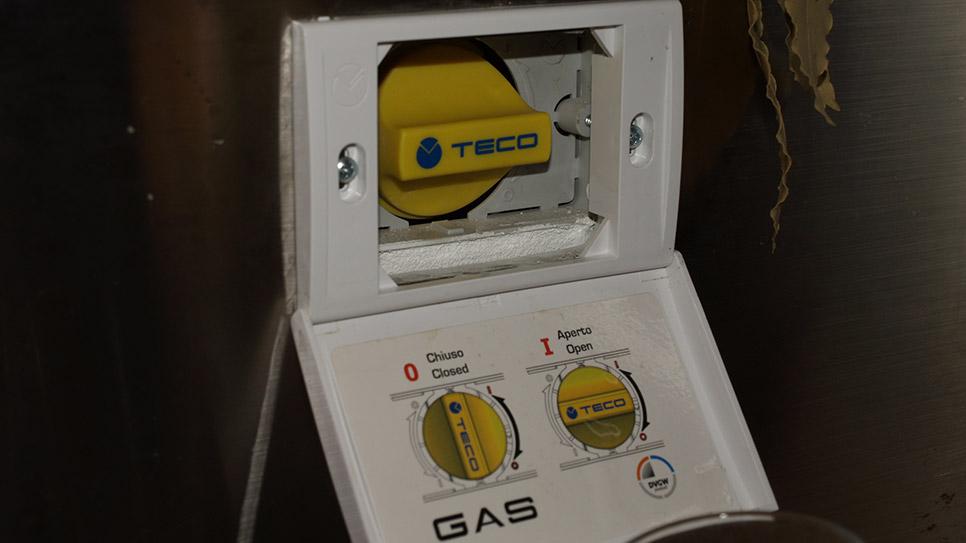 rubinetto gas a incasso per cucina acquasystem ditta